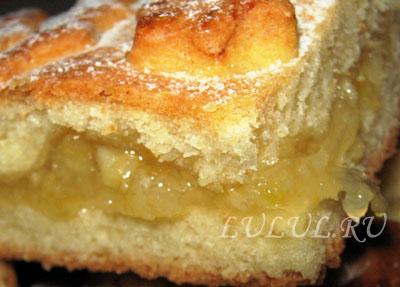 пирог с лимоном рецепт с фото