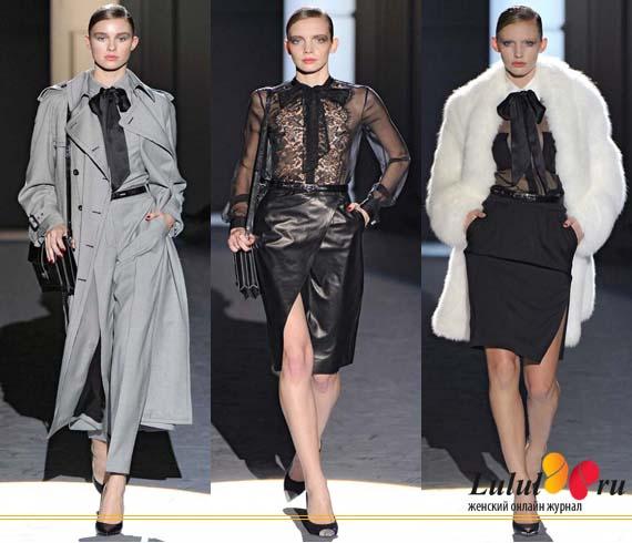 женская мода 2012 - бант на шее