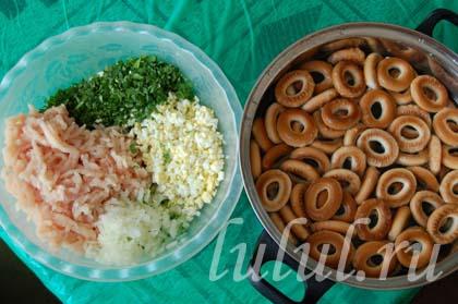 рецепт сушек с фаршем в духовке с фото