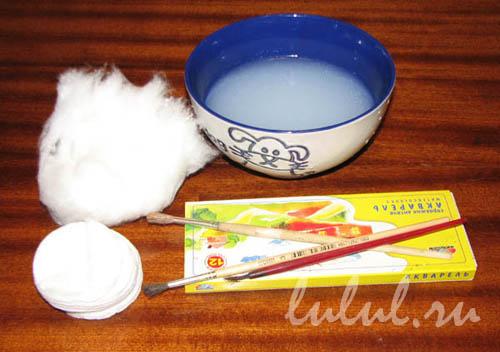 Елочная игрушка своими руками из ватных дисков