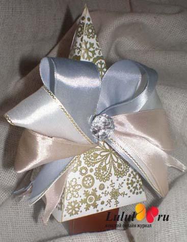 Как украсит коробочку для подарка 79
