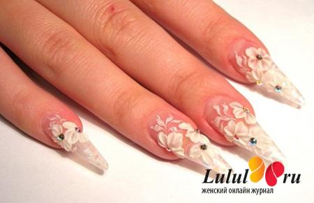 Зимний дизайн для нарощенных ногтей
