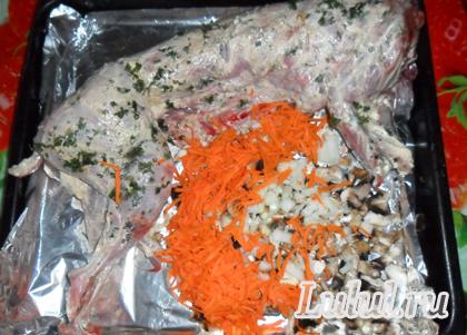 рецепт приготовления кролика с грибами рецепт с фото