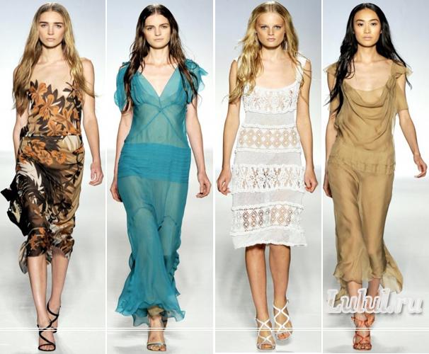 Модные платья 2012 года фото 1 2 donna karan 3 4