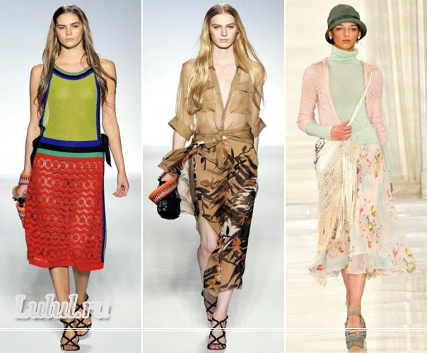 Мода юбки 2012 фото модные летние юбки