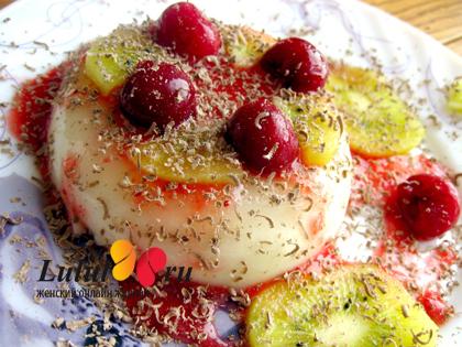 фото панна котта Panna cotta итальянский десерт