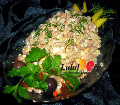 готовим салат из печени трески