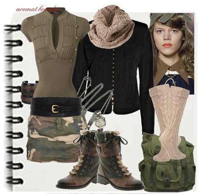 стиль милитари женский