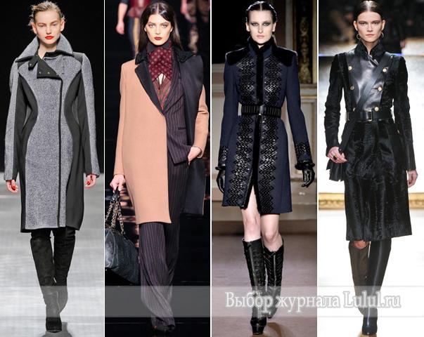 модное женское пальто 2012 2013