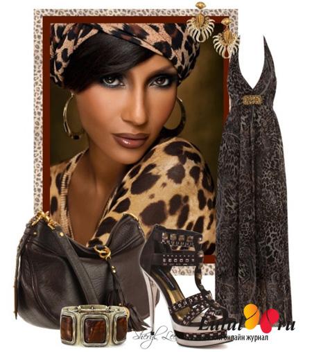 леопардовый принт в одежде с чем носить