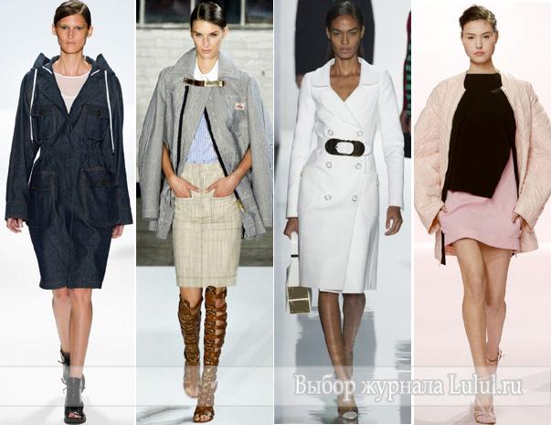 Модная одежда весенняя верхняя