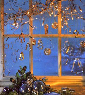 украшаем окно на новый год
