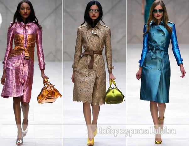 весеннее модное пальто мода весна лето 2013 года Burberry Prorsum