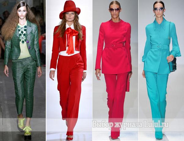 Модные женские костюмы 2013 года - костюм с брюками, с юбкой, с шортами