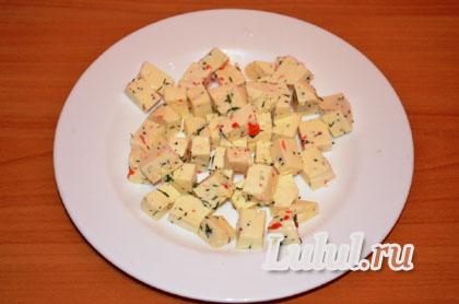 салат с куриной печенью рецепт слоями с