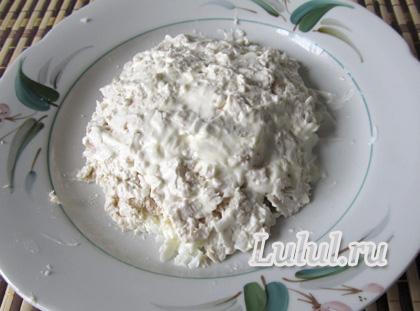 салат черепаха с грецкими орехами