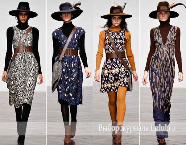 Шерстяные и трикотажные платья осень