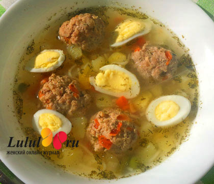рецепт супа из фрикаделек детям