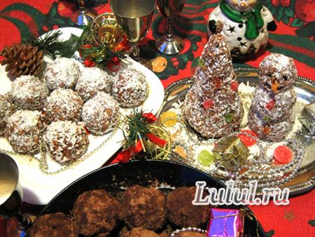 новогоднее пирожное без выпечки рецепт с фото