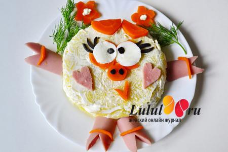 новогодний детский салат рецепт с фото