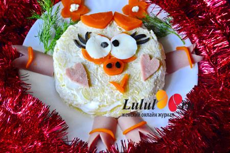новогодний детский салат