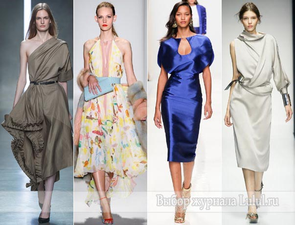 модные платья весна лето 2014 года