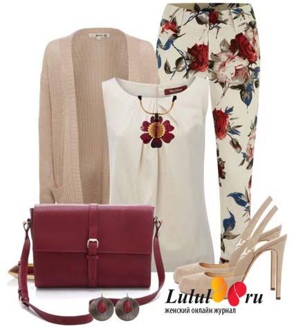 брюки в цветочек