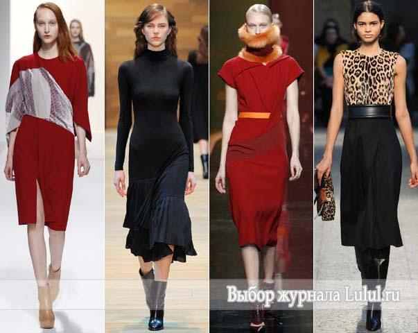 модные повседневные платья осень зима 2014 2015 фото