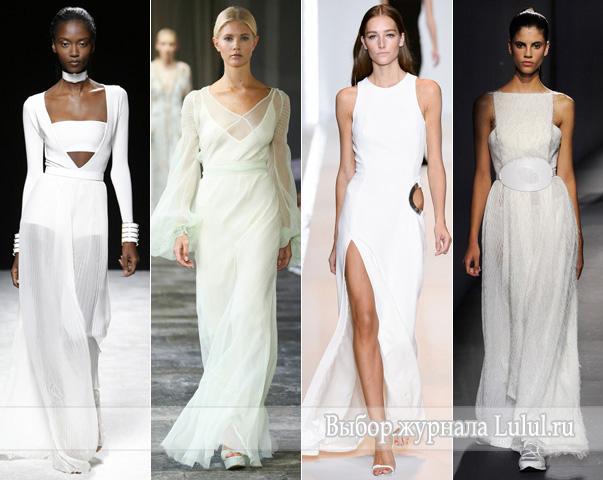 белые платья на выпускной 2015 года