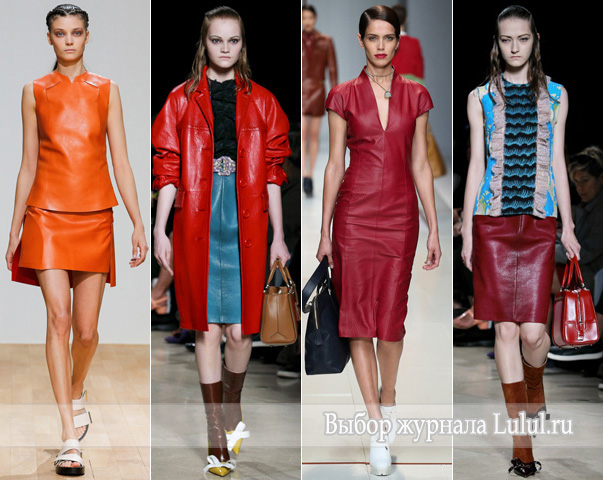 кожаные вещи весна 2015 года