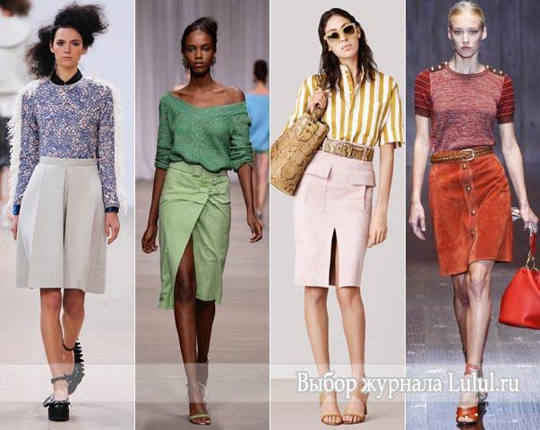 Модная юбка на весну 2015