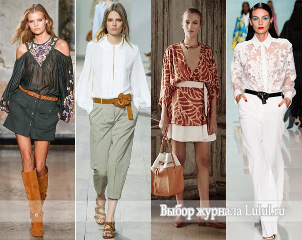 летние блузки 2015 года