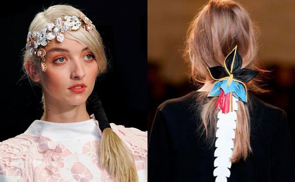 Цветы в волосах в коллекциях весна лето 2015 года