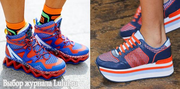 модные кроссовки на платформе весна лето 2015