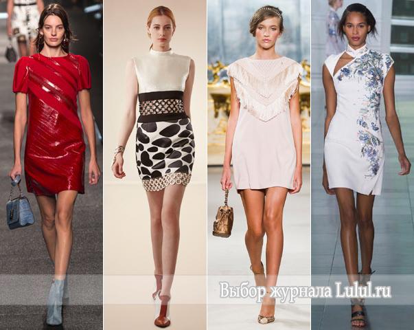 Короткие платья на вечер весна-лето 2015 года