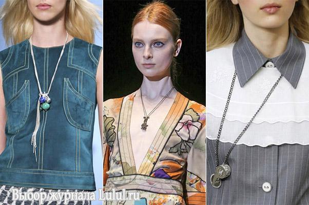 Модные ожерелья и кулоны 2015 года из коллекции весна-лето