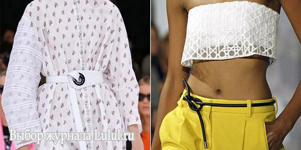 Модные женские ремни 2015 весна-лето