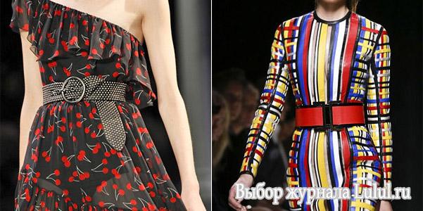 Модные женские ремни 2015 из коллекции весна-лето