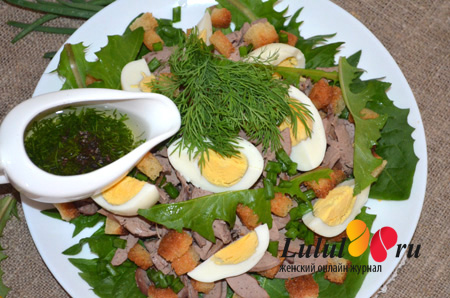 Весенний салат одуванчики листья фото