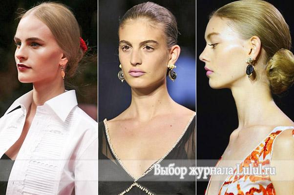 Модные серьги 2015 года из коллекции весна – лето