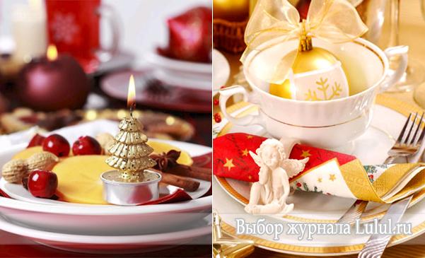 Простая новогодняя композиция на тарелке своими руками с фото