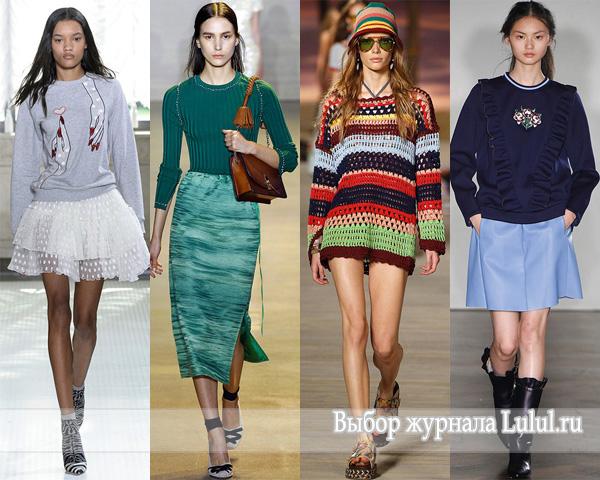 Модные свитера, полуверы, джемпера на весну 2016 года