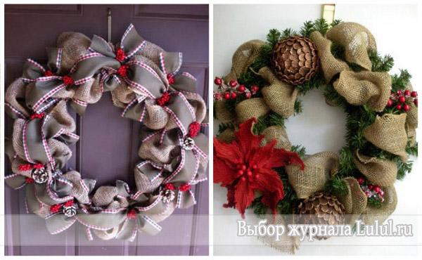 Нестандартные идеи рождественских венков