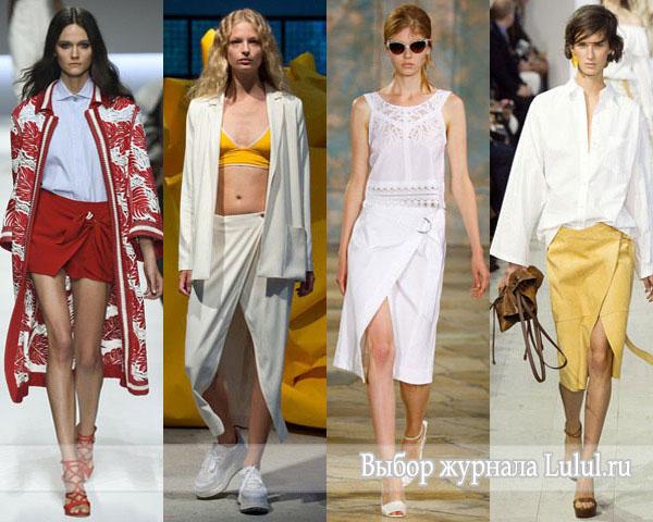 Модные юбки весна-лето 2016 года юбки с запахом фото