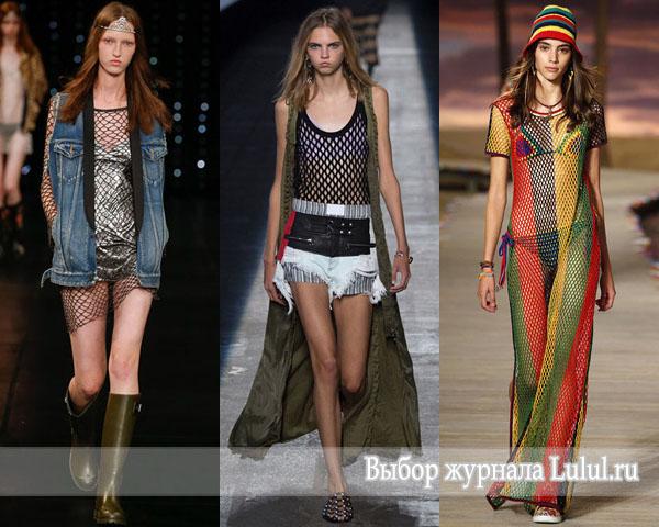 Мода весна-лето 2016: ее величество сетка мода из 90-х