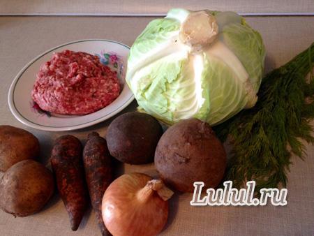 Быстрый борщ с фрикадельками рецепт с фото