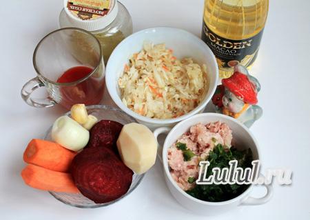Как приготовить вкусный борщ с квашеной капустой и мини-галушками пошаговый рецепт с фото