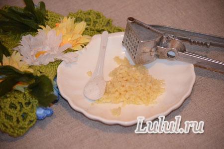 Высокие постные пампушки с чесноком и зеленью рецепт с фото