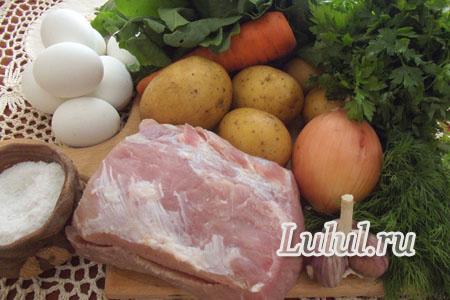 Зеленый борщ со щавелем и яйцом рецепт с фото