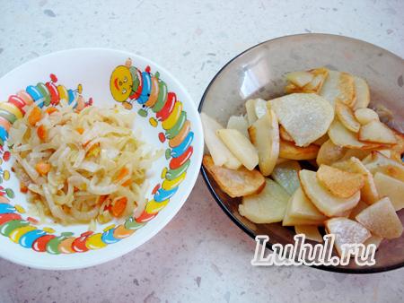 Дрожжевой пирог с рыбой и картофелем